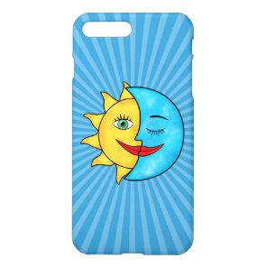 Sun Moon solar rays Celestial theme iPhone 8 Plus/7 Plus Case