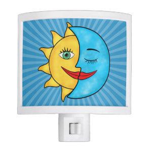 Sun Moon solar rays Celestial theme Night Light