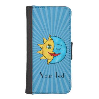 Sun Moon solar rays Celestial theme iPhone 5 Wallet Cases