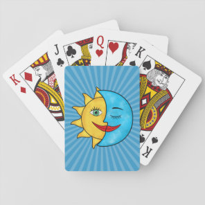Sun Moon solar rays Celestial theme Playing Cards