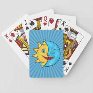 Sun Moon solar rays Celestial theme Playing Cards