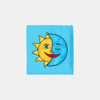 Sun Moon solar rays Celestial theme Reusable Bag