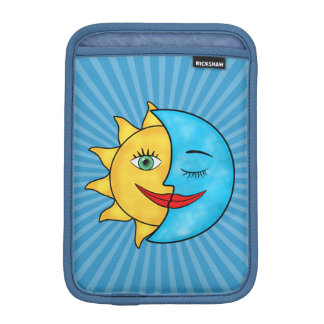 Sun Moon solar rays Celestial theme Sleeve For iPad Mini