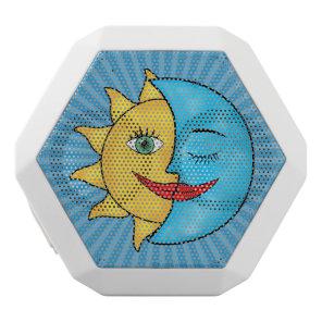 Sun Moon solar rays Celestial theme White Bluetooth Speaker