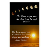 Sun Moon Spiritual Inspirational Motivation Quote Poster