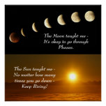 Sun Moon Spiritual Inspirational Quote Poster