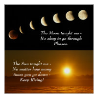 Sun Moon Spiritual Inspirational Quote Poster