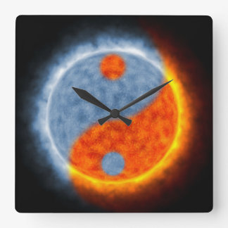 Sun & Moon Square Wall Clock