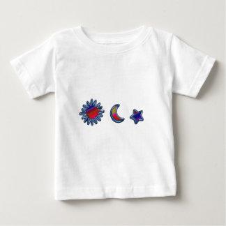 SUN MOON & STAR H rainbow D E.pdf Baby T-Shirt