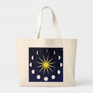 Sun Moon Stars Tote Bags