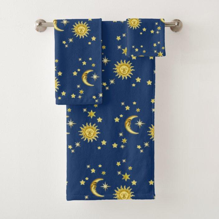 Sun Moon Stars Bath Towel Set