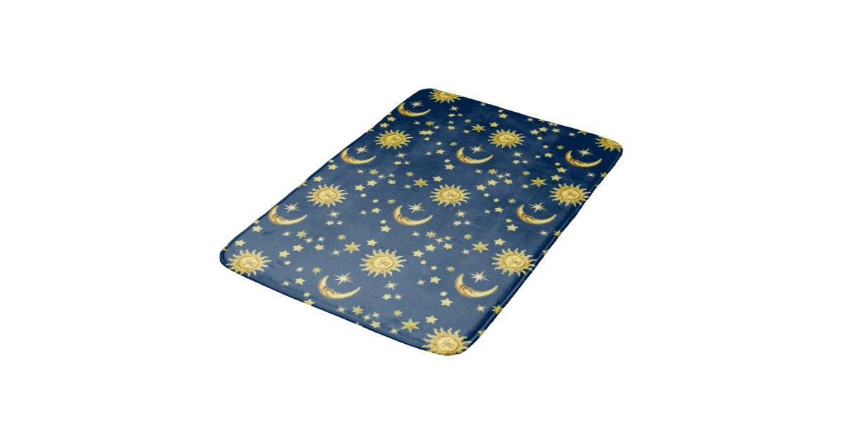 Sun Moon Stars Bathroom Mat Zazzle