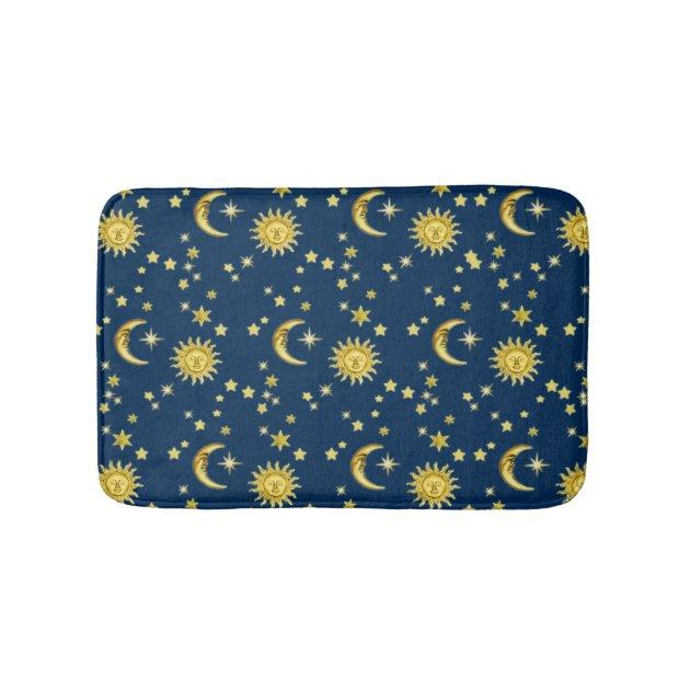 Sun, Moon & Stars Bathroom Mat  Zazzle # Sun Shower Rug_220024