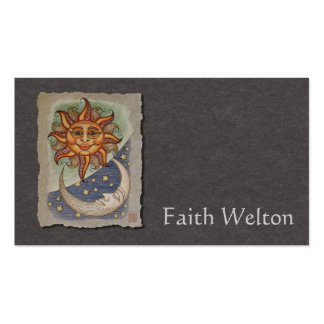 Sun Moon & Stars Double-Sided Standard Business Cards (Pack Of 100)