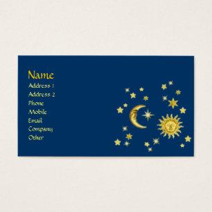 Moon business cards templates zazzle sun moon stars business card colourmoves Images