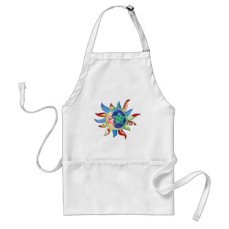 SUN, MOON & STARS by SHARON SHARPE Adult Apron