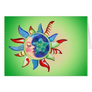 SUN, MOON & STARS by SHARON SHARPE Card