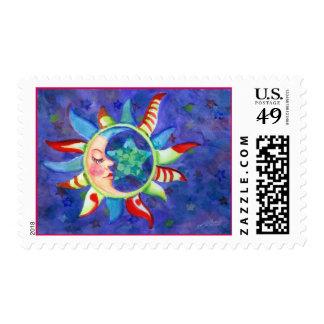 SUN, MOON & STARS by SHARON SHARPE Postage