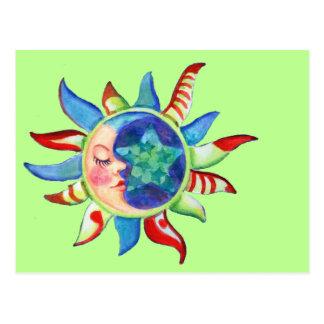 SUN, MOON & STARS by SHARON SHARPE Postcard
