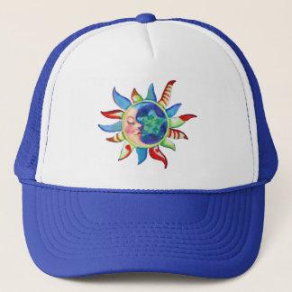 SUN, MOON & STARS by SHARON SHARPE Trucker Hat