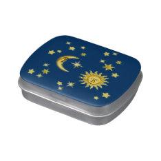 Sun, Moon & Stars Candy Tin at Zazzle