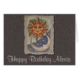 Sun Moon & Stars Greeting Card