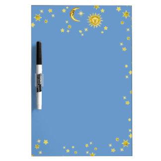 Sun, Moon & Stars Dry-Erase Whiteboard