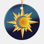 SUN MOON STARS FUSION ABSTRACT CERAMIC ORNAMENT