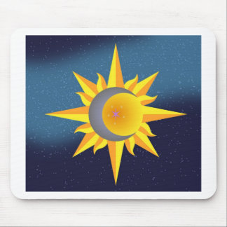 SUN MOON STARS FUSION ABSTRACT MOUSE PAD