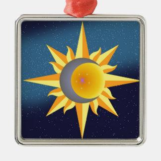 SUN MOON STARS FUSION ABSTRACT CHRISTMAS ORNAMENT