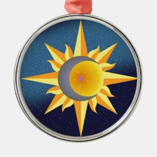 SUN MOON STARS FUSION ABSTRACT CHRISTMAS TREE ORNAMENT