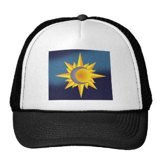 SUN MOON STARS FUSION ABSTRACT TRUCKER HAT