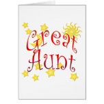 Sun Moon Stars Great Aunt Mother's Day Gift Card