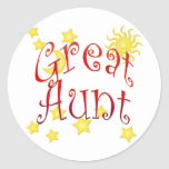 Sun Moon Stars Great Aunt Mother's Day Gift Classic Round Sticker