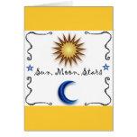 Sun Moon Stars Greeting Card