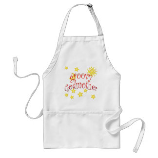 Sun Moon Stars groovy Godmother Mother's Day Gift Adult Apron
