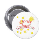 Sun Moon Stars groovy Godmother Mother's Day Gift Pinback Buttons