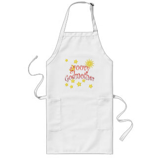 Sun Moon Stars groovy Godmother Mother's Day Gift Long Apron