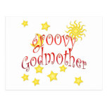 Sun Moon Stars groovy Godmother Mother's Day Gift Postcard