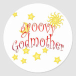 Sun Moon Stars groovy Godmother Mother's Day Gift Sticker