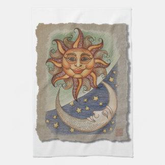 Sun Moon & Stars Hand Towel
