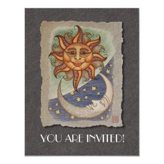 "Sun Moon & Stars 4.25"" X 5.5"" Invitation Card"