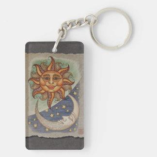 Sun Moon & Stars Keychain