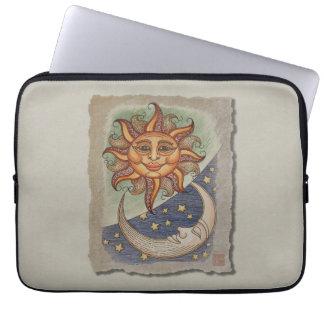 Sun Moon & Stars Laptop Computer Sleeve