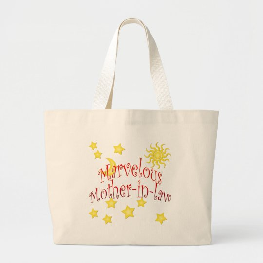 Sun Moon Stars Marvelous Mother-in-law Gift Large Tote Bag