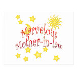 Sun Moon Stars Marvelous Mother-in-law Gift Postcard