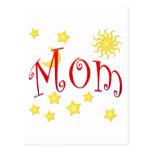Sun Moon Stars Mom Mother's Day Gift Postcard