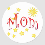 Sun Moon Stars Mom Mother's Day Gift Classic Round Sticker