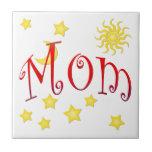 Sun Moon Stars Mom Mother's Day Gift Tile