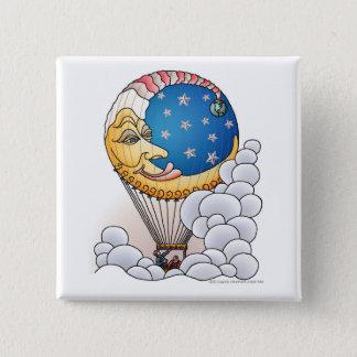 Sun Moon Stars Moon Balloon Aircraft Pins